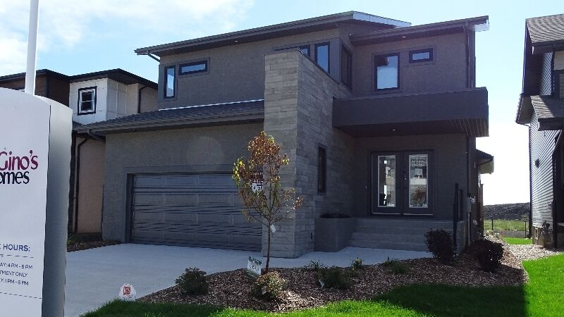contemporary gino 39 s homes 2 storey in south east winnipeg