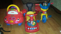 tricycle and car toy