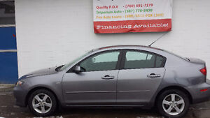 2006 Mazda 3 VERY LOW km BEAUTIFUL condition EASY FINANCING