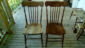 Vintage/antiques press back chairs