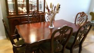 Italian Real wood Dining room set with Hutch and Buffet
