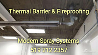 Fire proofing and thermal barrier