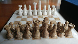 Beautiful Stone Chess Set