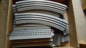 O scale model trains, power supplies, track and accessories