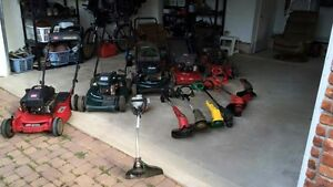 LAWN EQUIPMENT BLOWOUT - lawn mowers and trimmers