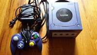 GameCube with all hookups and 1 third party controller.