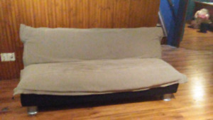Fold down futon couch