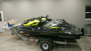 2 Seadoo RXP260s with dual ggalvanized trailer (LOW HOURS)