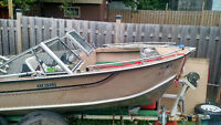 17 ft aluminum Peterborough with a 70hp Johnson