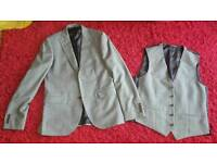 grey blazer jacket and waistcoat set from next tailoring 40 chest brand new