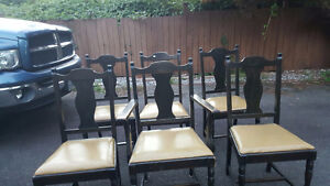 6 antique chairs