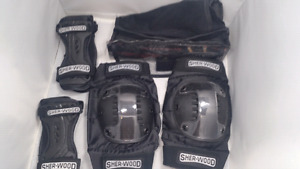 sherwood new knee pads and elbow 10.00