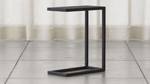 Crate and Barrel Avenue Black C Table - sofa / end table $175