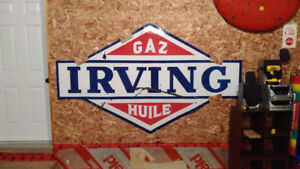 For trade a 8x5 Irving gas oil sign for something smaller