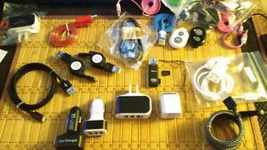 A Partir 1$ choix fil USB Chargeur Adaptateur Auto NEUF