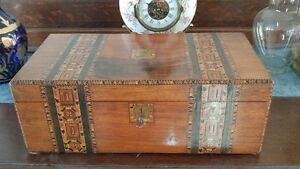 Antique Salesman Lap Desk With Secret Compartment