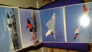 4 PICS OF THE AVRO AERO SIGNED BY THE PILOTS--$120 OBO