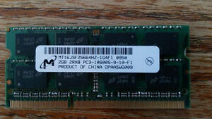MICRON  2GB NOTEBOOK SODIMM DDR3 PC10600(1333)