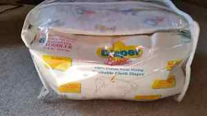 Older style both diapers, never been used.