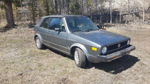 1982 Volkswagen rabbit sell or trade for camping trailer