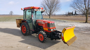 2007 Kubota M8200 ready for snow.