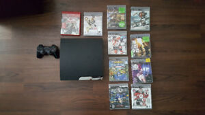 PS3 Slim with Controller, 10 games & HDMI