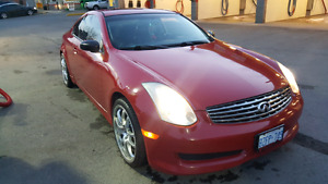 2007 Infiniti G35 coupe red rare color