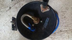 Air hose on spool