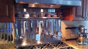 backsplash stainless steel NEUF -dosseret aluminium acier
