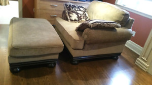 Sofa and foot rest from Ashley Furniture $349 (OBO)