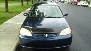 Honda civic  2003 LX 1.7 L ,économique, très bien entretenue  !
