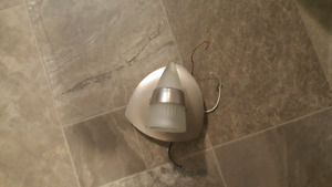 One Light Brushed Nickel Light Fixture