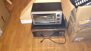 RCA microwave and Black and Decker toast r oven