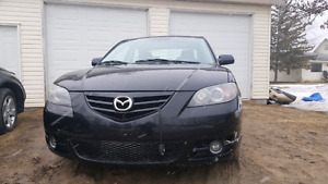 2005 Mazda 3 GT with 185289 kms new safety asking $3750 O.B.O