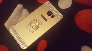 New Samsung Galaxy S6 Edge Plus Gold Cover With Ring Holder