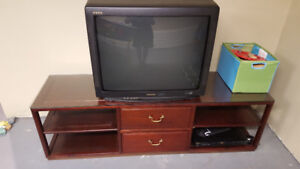 TV stand / cabinet - cherry wood