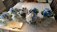 Wedding flowers and table decorations