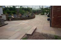 Premium Rippon Smooth Indian Sandstone Paving Slabs | Garden Patio | 19m2 Pack