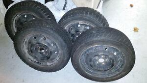 3 Winter tires / 1 All season on steel rims - 205/55R16 St. John's Newfoundland image 1