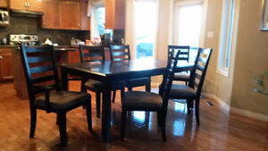 7 piece dining set (long table 76-94 inches)