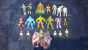 Marvel Transformers X Men Star Wars GI Joe action figures lot