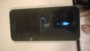 Iphone 5 with bell broken screen 120 obo