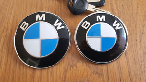 BMW 82 and 74mm roundel set for e90 e46 335i 330ci 325ci M3