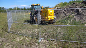 Temporary construction fence / fencing panels