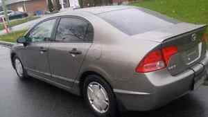 2008 Honda civic 4 Dr  full load automatic West Island Greater Montréal image 2