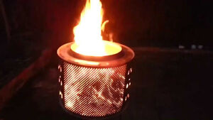 """""""SPARX"""" Stainless Steel Fire Drum / Pit / Firepit"""