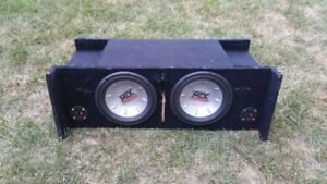 Jeep TJ subwoofer box with two 10in mtx subs