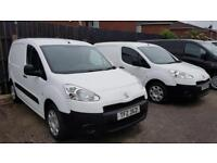 CHOICE OF TWO 2014 PEUGEOT PARTNER HDI DIESEL VAN,THREE FRONT SEATS,SIDE LOADING