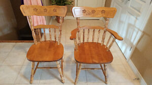 Solid Maple Dining Chairs
