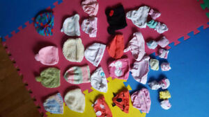 Infant hats mittens and socks